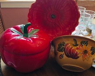 Red Poppy Bowl, SOLD