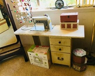 Sewing Machine with Cabinet, $100, Thread Holder SOLD
