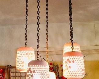 Amazing large blanc de chine chandelier, $650
