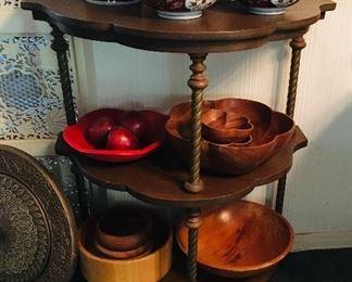 3 Tier Demilune table, $65
