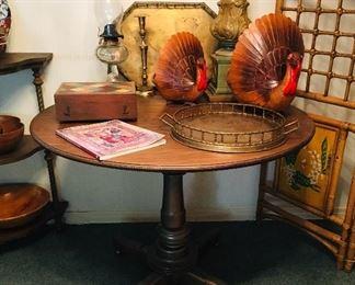 Breakfast Table, $75, Brass Trays SOLD
