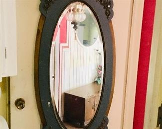 Large Antique Mirror with Blue Paint, $75, SOLD