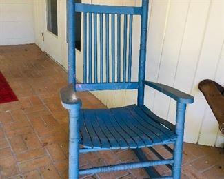 Blue Rocking Chair, $50