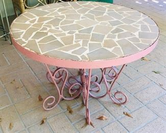 Tile Top outdoor table in Pink, $75