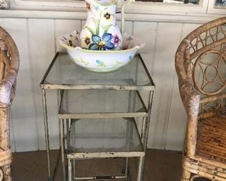 3 Pc. Metal Nesting Tables, $50, SOLD