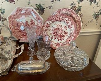 Cut Glass, Silverplate, Crystal, Spode