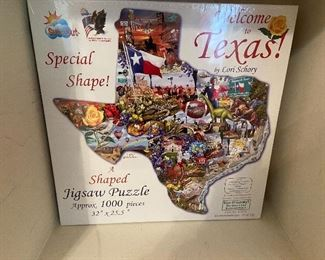 Texas Shaped Puzzle - new in box
