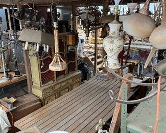 Lighting, chandeliers, sconces, pendants, table lamps and shades
