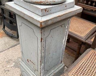 Old paint pedestal