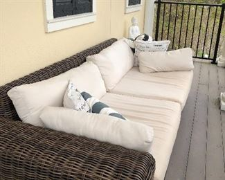 Outdoor sofa.  This has been under cover on the balcony
