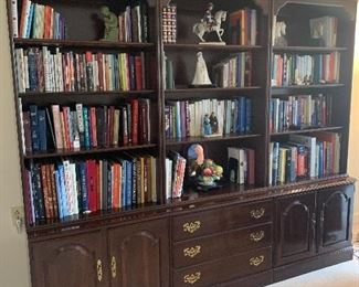 """Item  4  (Was $400) Now $200  each section  Three Ethan Allen Book Shelves. Each section measures about 30""""W by 18"""" D by 78"""" H."""