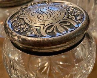 Item 45 Dresser Jar with Sterling Lid $95
