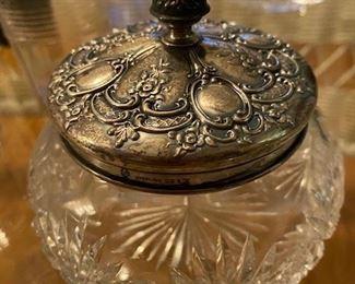 Item 44  Sterling Silver Lidded Dresser Jar $95