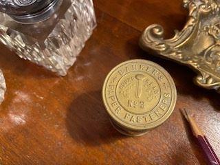 Item 58 Antique fastener Jar $15 Early 20th Century