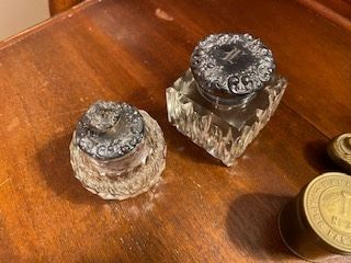 Item 59 Inkwell on left $50                                                       Item 60 Inkwell on right $65