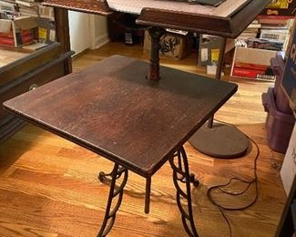 Item 63 Antique Iron Based  Table/Book Stand $295