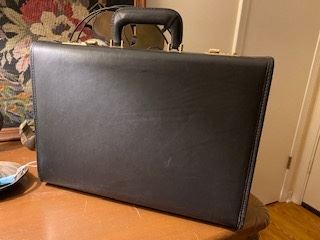 Item 68 Mens Leather Attache Briefcase- Never Used $200