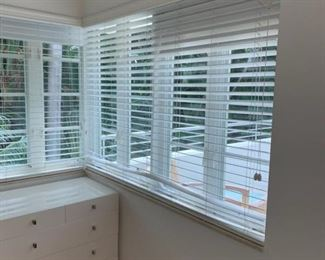 Wood blinds with blackout shades