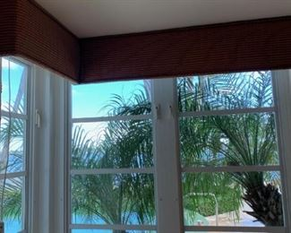 Pair of electric shades with valances