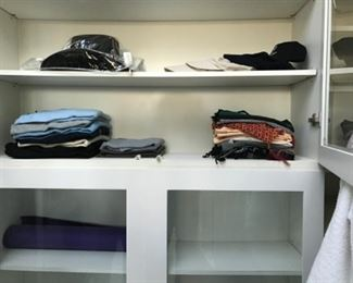 Scarfs, hat & misc clothing. Estimate $250