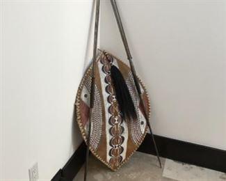 African shield & spears Estimate $1000