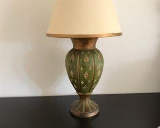 Pair of 1930's Florentine lamps. Estimate $1200