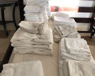 Towels/sheets.  Estimate $100