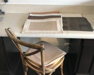 Chair & placemats. Estimate $50