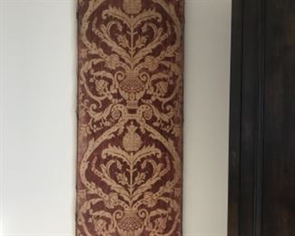"Late 17th century textile panel, 24""x62"".  Estimate $2000"