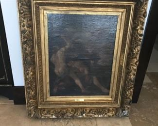 Late 17th century oil on canvas. Cain and Abel 32x38 framed. Estimate $8500
