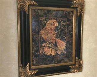 Parrot framed 25x28. Estimate $2500