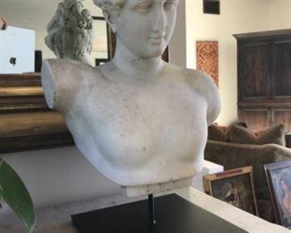 19th century marble bust 14x21 Estimate $3500