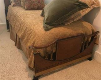 Twin bed. Estimate $1000