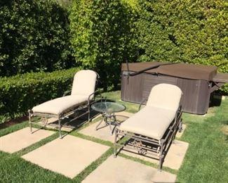 Cast 2 chaise & table Estimate $2500