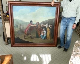 Oil on canvas. 18th century Belgium. 55x60 with frame.  Estimate $12,000-$14,000