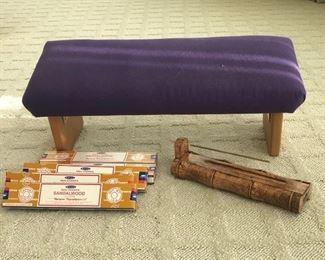 Bench, incense & burner Estimate $175