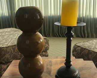 Candle holder & vase  Estimate $45