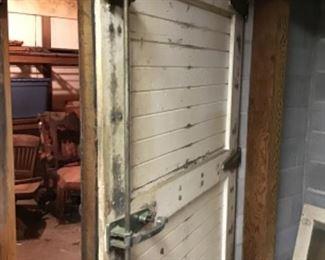 Huge, very Cool Antique Industrial Door with working Hardware