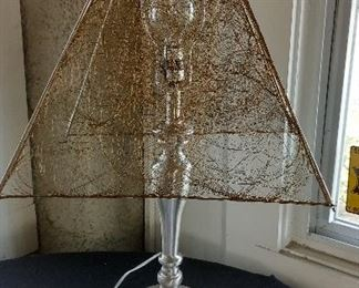 lamp with custom wire shade