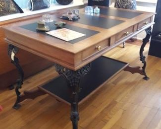 Partner's desk with slate inlay