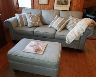 Modern Couch and Ottoman - New