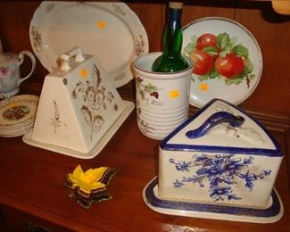Antique Cheese / Butter Dishes from Scotland