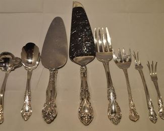 """GORHAM STERLING SILVER """"MELROSE"""" SERVING PIECES INCLUDED AS PART OF SET."""