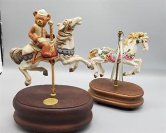 2 Horse Carousel Collection Figures