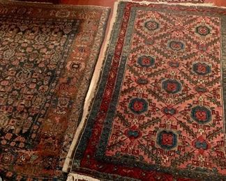 Numerous Oriental rugs in various sizes