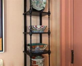 Etagere with fine porcelains
