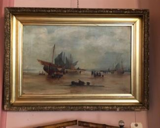 One of several ship English ship paintings