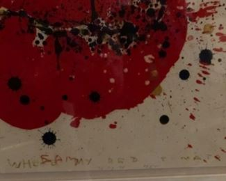 "Sam Francis painting, ""Where My Red Tomato"""