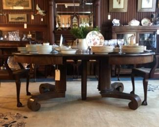 Center pedestal dining table