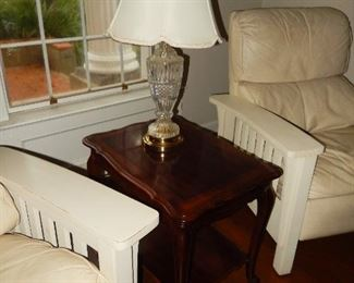 End table; lamp